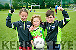 Under 8's Katie Galvin, Ronan Kaloo and Brendan Minogue  enjoying the St Pats Blennervile  Cul Camp on Tuesday