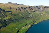 Selsstaðir séð til norðausturs, Seyðisfjörður / Selsstadir viewing northeast, Seydisfjordur.