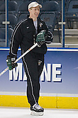 Dave Hakstol - The University of North Dakota Fighting Sioux practice on Wednesday, April 5, 2006, at the Bradley Center in Milwaukee, Wisconsin prior to taking on Boston College in the 2006 Frozen Four Semi-Final the following day.