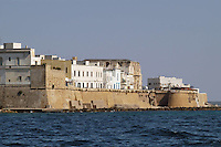 - Puglia, Gallipoli, la citt&agrave; vecchia e le mura visti dal mare<br /> <br /> - Apulia, Gallipoli, the ancient town and the walls seen from the sea