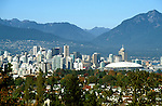 Canada: Vancouver. Skyline.  Photo #: cnvanc101..Photo copyright Lee Foster, 510/549-2202, lee@fostertravel.com, www.fostertravel.com