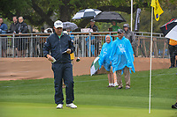 Padraig Harrington (IRL) looks over his birdie putt on 18 during day 3 of the Valero Texas Open, at the TPC San Antonio Oaks Course, San Antonio, Texas, USA. 4/6/2019.<br /> Picture: Golffile | Ken Murray<br /> <br /> <br /> All photo usage must carry mandatory copyright credit (© Golffile | Ken Murray)