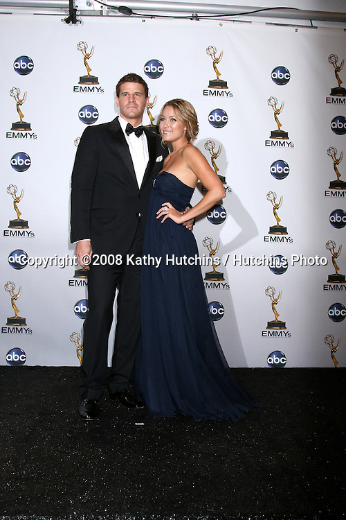 David Boreanaz & Lauren Conrad .n the Press Room  at the Primetime Emmys at the Nokia Theater in Los Angeles, CA on.September 21, 2008.©2008 Kathy Hutchins / Hutchins Photo....