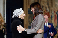 Emma Bonino and Mara Carfagna<br /> Rome December 19th 2018. Quirinale. Traditional exchange of Christmas wishes between the President of the Republic and the institutions.<br /> Foto Samantha Zucchi Insidefoto