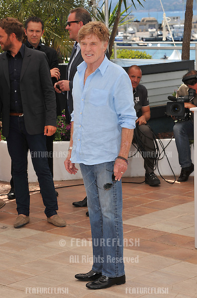 "Robert Redford at photocall for his movie ""All Is Lost"" at the 66th Festival de Cannes..May 22, 2013  Cannes, France.Picture: Paul Smith / Featureflash"