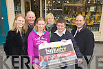 """Christine Foley and Anthony Curran who are going to be Married in November winners of this weeks buyKerry competition choose Ross Jewellers in Tralee for the prize..From left Heather O""""Sullivan, Ross Jewellers, Michael Murphy, Killorglin Credit Union, Christine Foley, Eileen Curtin, Kerry's Eye, Anthony Curran, and Brendan Kennelly, Kerry's Eye."""