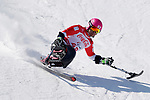 Takeshi Suzuki (JPN),<br /> MARCH 11, 2018 - Alpine Skiing : <br /> Men's Super G Sitting <br /> at Jeongseon Alpine Centre  <br /> during the PyeongChang 2018 Paralympics Winter Games in Pyeongchang, South Korea. <br /> (Photo by Yusuke Nakanishi/AFLO SPORT)