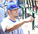 Yu Darvish (Rangers),<br /> APRIL 13, 2017 - MLB :<br /> Yu Darvish of the Texas Rangers in the dugout during the Major League Baseball game against the Los Angeles Angels of Anaheim at Angel Stadium of Anaheim in Anaheim, California, United States. (Photo by AFLO)