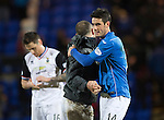 St Johnstone v Inverness Caledonian Thistle...20.12.14   SPFL<br /> Brian Graham is congratulatedby Lee Croft at full time<br /> Picture by Graeme Hart.<br /> Copyright Perthshire Picture Agency<br /> Tel: 01738 623350  Mobile: 07990 594431