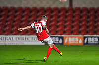 Fleetwood Town's midfielder Barry Baggley (30) scores fith penalty during the The Leasing.com Trophy match between Fleetwood Town and Liverpool U21 at Highbury Stadium, Fleetwood, England on 25 September 2019. Photo by Stephen Buckley / PRiME Media Images.