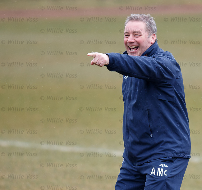 Ally McCoist laughing at training about to reprise his Gangnam dance