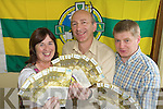 GOLDEN TICKETS: Breda O'Callaghan, County Board staff, Peter Twiss, Secretary County Board,  and Weeshie Lynch, Asst Treasurer County Board sorting out All Ireland tickets at the County Board pavilion on Tuesday evening.