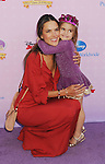 """BURBANK, CA - NOVEMBER 10: Model Alessandra Ambrosio and daughter Anja Louise Ambrosio Mazur arrive at the Disney Channel's Premiere Party For """"Sofia The First: Once Upon A Princess"""" at the Walt Disney Studios on November 10, 2012 in Burbank, California."""