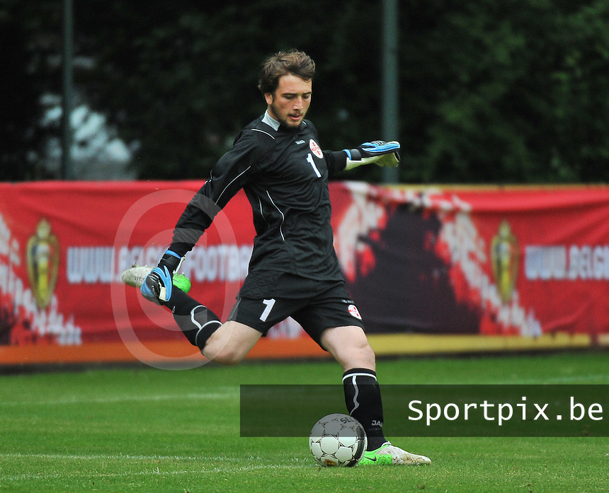 Georgia U19 - Belgium U19 : Gabriel Tebidze<br /> foto DAVID CATRY / Nikonpro.be