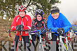 MEMORIAL CYCLE: Member's of the Chain Gang cycle club taking part in the Jimmy Duffy memorial cycle at Blennerville on Saturday l-r: Timmy Houlihan, Aileen Clifford and John O'Connor.