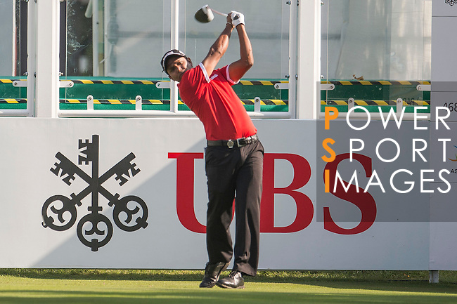 S.S.P. Chawrasia of India tees off the first hole during the 58th UBS Hong Kong Open as part of the European Tour on 08 December 2016, at the Hong Kong Golf Club, Fanling, Hong Kong, China. Photo by Marcio Rodrigo Machado / Power Sport Images