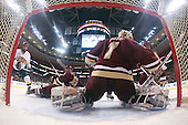 Brian Roloff (Vermont - 14), Tim Filangieri (BC - 5), John Muse (BC - 1), Tim Kunes (BC - 6) - The Boston College Eagles defeated the University of Vermont Catamounts 4-0 in the Hockey East championship game on Saturday, March 22, 2008, at TD BankNorth Garden in Boston, Massachusetts.