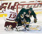 Cam Atkinson (BC - 13), Matt Marshall (Vermont - 17), Rob Madore (Vermont - 29) - The Boston College Eagles defeated the visiting University of Vermont Catamounts 6-0 on Sunday, November 28, 2010, at Conte Forum in Chestnut Hill, Massachusetts.