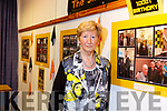 Mairead Fernane (Vice Chair Austin Stacks Club) at the launch of the clubs photographic exhibition in the Kerry County Library on Tuesday night last.