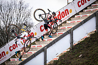 World Cup Leader Toon Aerts (BEL/Telenet Baloise Lions) and Eli Iserbyt (BEL/Pauwels Sauzen - Bingoal) <br /> <br /> Men Elite Race<br /> UCI Cyclocross Worldcup – Hoogerheide (Netherlands)<br /> <br /> ©kramon