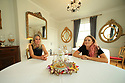 Karin Bjorkman Loney (L) sits with her daughter Emely who also works at Maryville House B&B and Tearooms located off the Lisburn Road, Belfast, County Antrim, Wednesday 7th, August 2019. (Photo by Paul McErlane for the Belfast Telegraph)