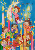 Interlitho, Soledad, CHRISTMAS CHILDREN, naive, paintings, kids, candles, moon(KL2164/1,#XK#)