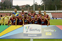 RIONEGRO - COLOMBIA, 14-02-2020: Jugadores del Tolima posan para una foto previo al e partido por la fecha 5 entre Rionegro Águilas y Deportes Tolima como parte de la Liga BetPlay DIMAYOR I 2020 jugado en el estadio Alberto Grisales de la ciudad de Rionegro. / Players of Tolima pose to a photo prior Match for the date 5 between Rionegro Aguilas and Deportes Tolima as part BetPlay DIMAYOR League I 2020 played at Alberto Grisales stadium in Rionegro city. Photo: VizzorImage / Leon Monsalve / Cont