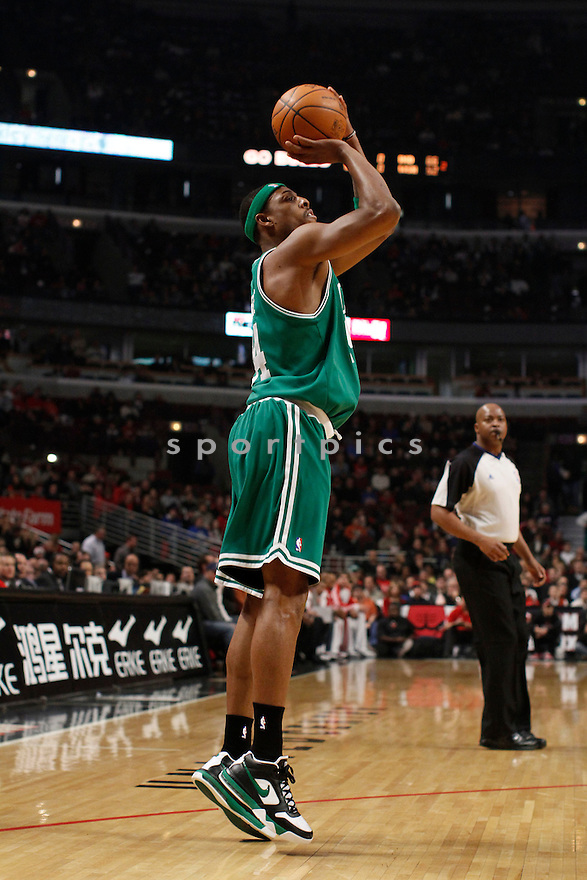 PAUL PIERCE, in action during the Boston Celtics game against the Chicago Bulls on December 12, 2009 in Chicago, Illinois. Celtics won 106-80..