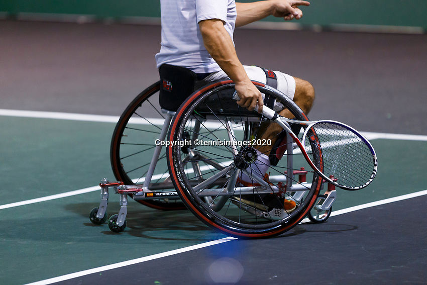 Rotterdam, The Netherlands, 12 Februari 2020, ABNAMRO World Tennis Tournament, Ahoy. Wheelchair: Martin De La Puente (ESP). <br /> Photo: www.tennisimages.com