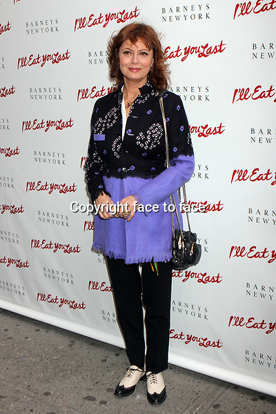 "Susan Sarandon attending the opening night performance of ""I'll Eat You Last: A Chat With Sue Mengers"" at The Booth Theatre in New York, 24.04.2013. .Credit: Rolf Mueller/face to face"