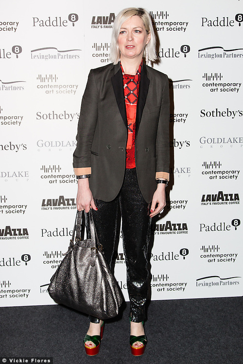 Elizabeth Price arrives for the Contemporary Art Society Fundraising Gala at Tobacco Dock in Wapping, East London on March 11, 2014.