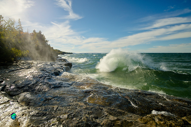 wave watching at Paradise, Lake Superior