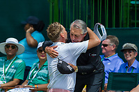 Ian Poulter (ENG) and Gary Player (RSA) during the first round at the Nedbank Golf Challenge hosted by Gary Player,  Gary Player country Club, Sun City, Rustenburg, South Africa. 14/11/2019 <br /> Picture: Golffile | Tyrone Winfield<br /> <br /> <br /> All photo usage must carry mandatory copyright credit (© Golffile | Tyrone Winfield)