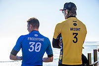 MARGARET RIVER, Western Australia/AUS (Saturday, April 1, 2017) Owen Wright (AUS) and Jack Freestone (AUS) - After further assessment of the conditions on offer the event officials called men's Rounds 3 and 4 of the Drug Aware Margaret River Pro ON with an 8:45 a.m. start at Main Break in clean eight-to-ten foot plus conditions. The event had switched from the previously communicated venue, The Box, due to an unfavorable swell period.<br /> <br /> &ldquo;We have kept a close eye on the conditions at The Box and have realised it is not as ideal as we first thought,&rdquo; said WSL Deputy Commissioner Renato Hickel. &ldquo;The Box is a wave that works best on a short period large swell. The period today is quite long and is causing the wave to break in the wrong spot. Unfortunately, it isn&rsquo;t contestable for our athletes so we will move back to Main Break. The good news is that there are some sets in the 10-to-12 foot range at Main Break so regardless of our move, it&rsquo;s going to be a spectacular day of surfing.&rdquo;<br />  Photo: joliphotos.com- After further assessment of the conditions on offer the event officials called men's Rounds 3 and 4 of the Drug Aware Margaret River Pro ON with an 8:45 a.m. start at Main Break in clean eight-to-ten foot plus conditions. The event had switched from the previously communicated venue, The Box, due to an unfavorable swell period.<br /> <br /> &ldquo;We have kept a close eye on the conditions at The Box and have realised it is not as ideal as we first thought,&rdquo; said WSL Deputy Commissioner Renato Hickel. &ldquo;The Box is a wave that works best on a short period large swell. The period today is quite long and is causing the wave to break in the wrong spot. Unfortunately, it isn&rsquo;t contestable for our athletes so we will move back to Main Break. The good news is that there are some sets in the 10-to-12 foot range at Main Break so regardless of our move, it&rsquo;s going to be a spectacular day of surfing.&rdquo;<br />  Photo: joliphotos.com