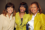 From left: Linda Brown, Lora Clemmons and Yvonne Cormier at the 2010 Best Dressed Luncheon and Neiman Marcus Fashion show at the Westin Galleria Hotel Wednesday March 31,2010. (Dave Rossman Photo)