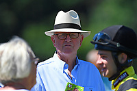 Trainer Mick Channon in the parade ring during Whitsbury Manor Stud Bibury Cup Day Racing at Salisbury Racecourse on 27th June 2018