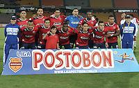 MEDELLIN - COLOMBIA -20-04-2013: Jugadores del Deportivo Independiente Medellín posan para una foto durante partido por la Liga de Postobon I en el estadio Atanasio de la ciudad de Medellín, abril 20 de  2013. (Foto: VizzorImage / Luis Ramírez / Staff). Players of Deportivo Independiente Medellín pose for a photo during a match for the Postobon I League at the  Atanasio Girardot in Medellin city, on April 20, 2013, (Photo: VizzorImage / Luis Ramirez / Staff)