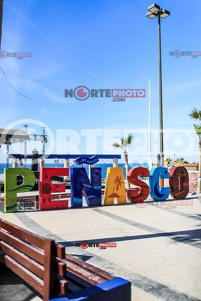Letters of various colors with the word Penasco in the tourist destination called Puerto Penasco, Sonora, Mexico.<br /> (Photo: Luis Gutierrez /NortePhoto.com)<br /> <br /> Letras de varios colores con la palabra Peñasco en el destino turistico llamado Puerto Peñasco, Sonora, Mexico.<br /> (Photo: Luis Gutierrez /NortePhoto.com)