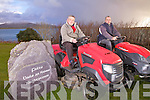 Race preparations, pictured l-r; Mike Egan & Gerard Reidy two of the organising committee of the fourth annual 'Tractor Lawnmower' race in being held in Knightstown, Valentia, on Monday 27th December at 2:30pm, 'Its always a great Holiday Event with this years proceeds going to Valentia Hospital & Cracow Park' said Mike Egan...Ref Sinead for story