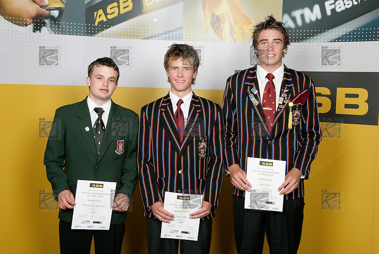 Cricket Boys Finalists. ASB College Sport Young Sportsperson of the Year Awards 2006, held at Eden Park on Thursday 16th of November 2006.<br />