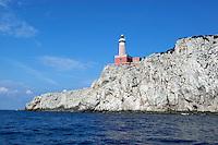 Italy, Campania, Capri: Faro Punta Carena   Italien, Kampanien, Provinz Neapel, Capri: Faro Punta Carena