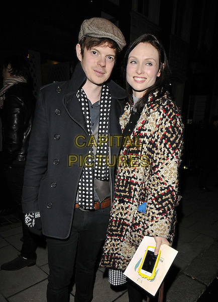 LONDON, ENGLAND - FEBRUARY 04: Richard Jones &amp; Sophie Ellis Bextor attend the Ron Gorchov exhibition VIP private view, S2, St George St., on Wednesday February 04, 2015 in London, England, UK. <br /> CAP/CAN<br /> &copy;Can Nguyen/Capital Pictures