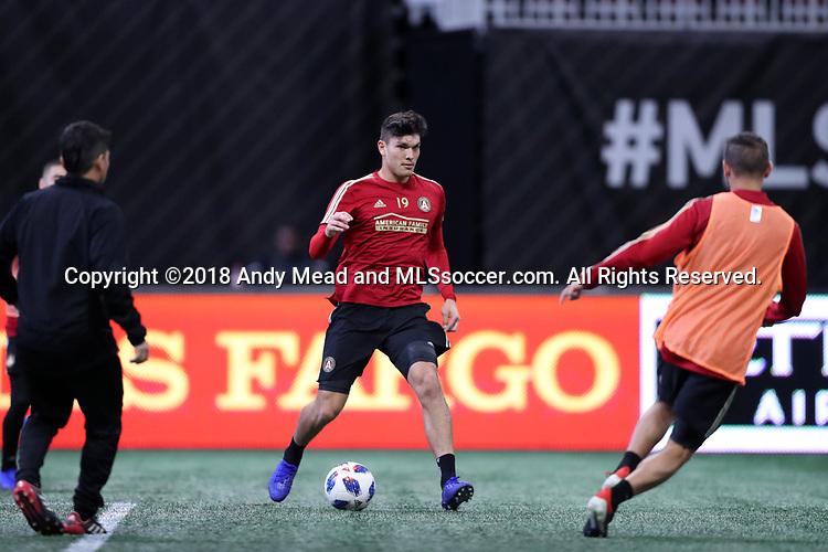 ATLANTA, GA - DECEMBER 07: Atlanta United FC's Brandon Vazquez. The MLS Cup 2018 Team Training Sessions were held on December 7, 2018 at the Mercedes Benz Stadium in Atlanta, GA.