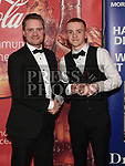John Savage presents the Young Sports Star of the Year award to Padraic McGroggan at the Drogheda Independent Sports Star Awards in the Westcourt Hotel.  Photo:Colin Bell/pressphotos.ie