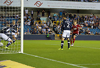 Martyn Waghorn of Ipswich Town scores his side's 3rd goal to make it 2-3 during the Sky Bet Championship match between Millwall and Ipswich Town at The Den, London, England on 15 August 2017. Photo by Alan  Stanford / PRiME Media Images.