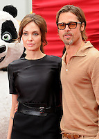 "20 September 2016 - Los Angeles, CA - Angelina Jolie Pitt has filed for divorce from Brad Pitt. Jolie Pitt, 41, filed legal docs Monday citing irreconcilable differences. Jolie Pitt requested physical custody of the couple's shared six children – Maddox, Pax, Zahara, Shiloh, Vivienne, and Knox – asking for Pitt to be granted visitation, citing legal documents. File Photo: 22 May 2011 - Hollywood, California - Angelina Jolie and Brad Pitt. ""Kung Fu Panda 2"" Los Angeles Premiere held at Grauman's Chinese Theatre. Photo Credit: Byron Purvis/AdMedia"