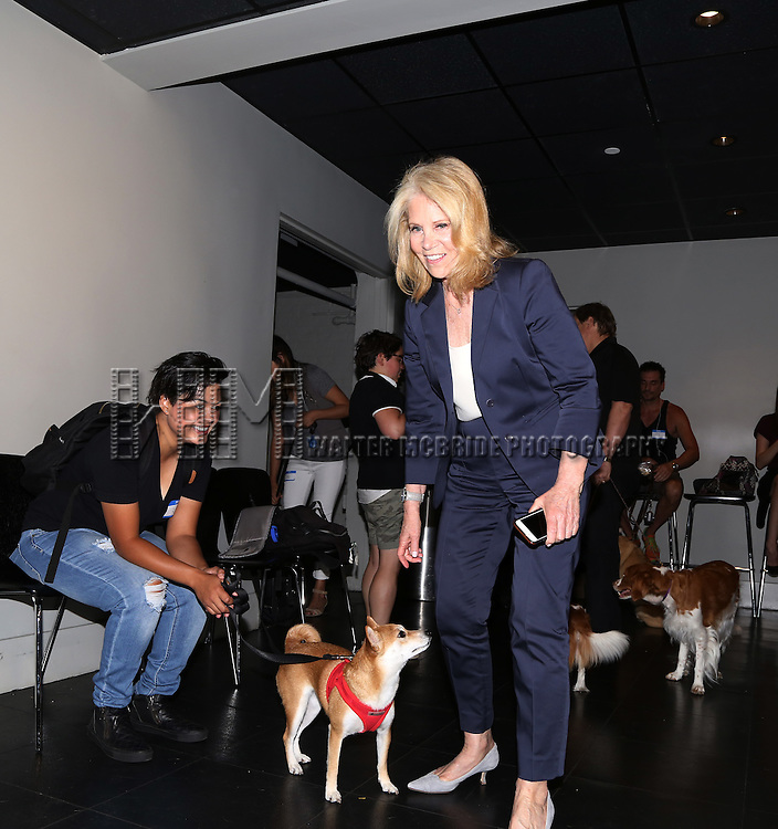 Daryl Roth attends the Dog Auditions for a Cameo in Broadway's 'Sylvia' held at the Daryl Roth Theatre on August 3, 2015 in New York City.