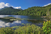 Coast Mountains and a northern lake on The Sunshine Coast<br /> Skookumchuck<br /> British Columbia<br /> Canada