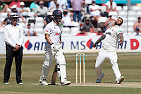 Peter Trego in bowling action for Somerset during Essex CCC vs Somerset CCC, Specsavers County Championship Division 1 Cricket at The Cloudfm County Ground on 26th June 2018