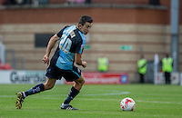 Luke O'Nien of Wycombe Wanderers turns with the ball during the Sky Bet League 2 match between Leyton Orient and Wycombe Wanderers at the Matchroom Stadium, London, England on 19 September 2015. Photo by Andy Rowland.
